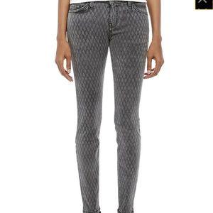 💞Current/Elliott Ankle Skinny Fishnet Jeans